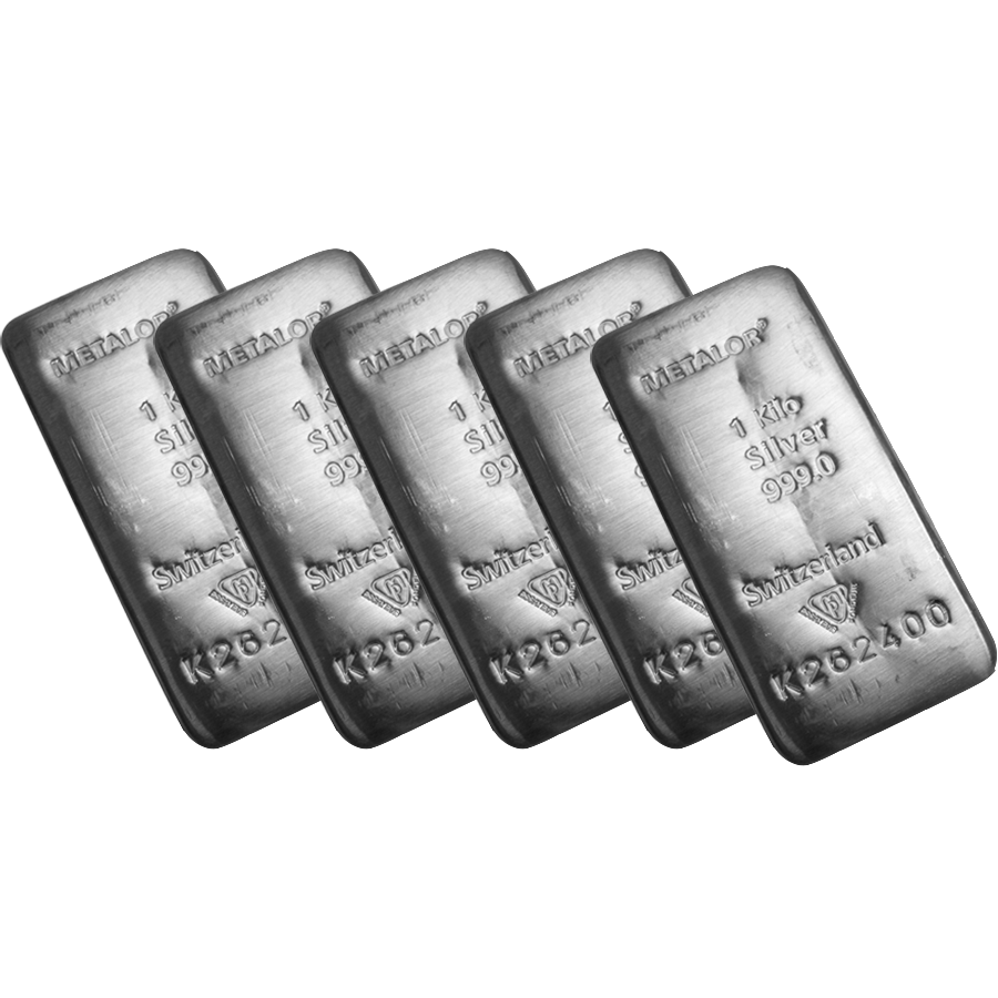 Metalor 1kg Silver 5 Bar Bundle