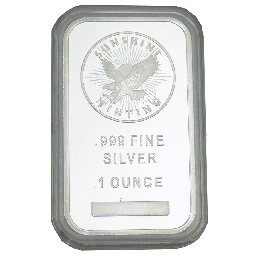 Sunshine Mint 1oz Silver Bar with Capsule (Image 1)