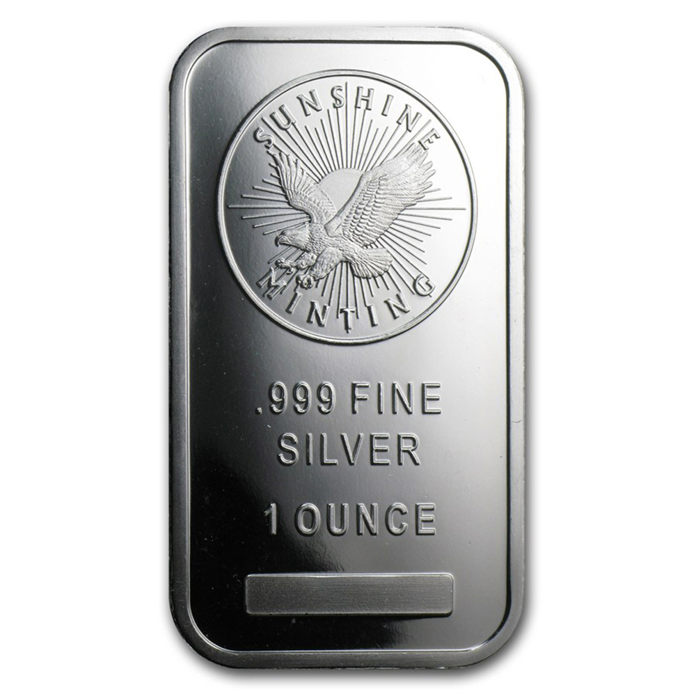 Sunshine Mint 1oz Silver Bar with Capsule (Image 2)