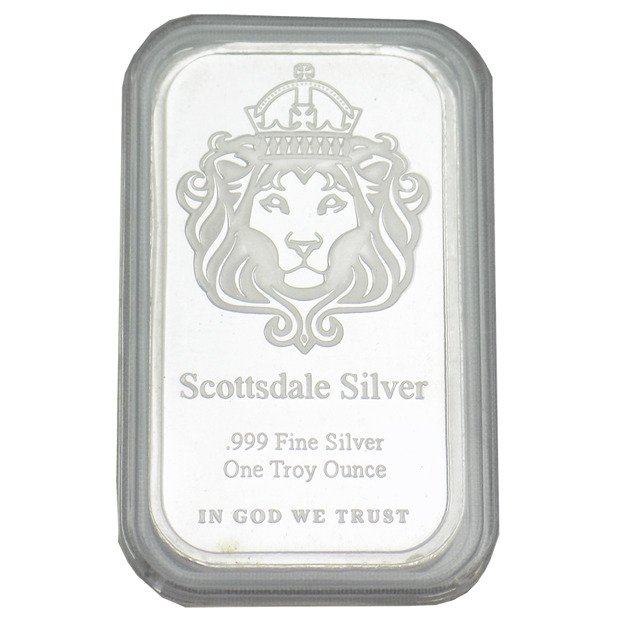 Scottsdale Mint 1oz 'The One' Silver Bar with Capsule