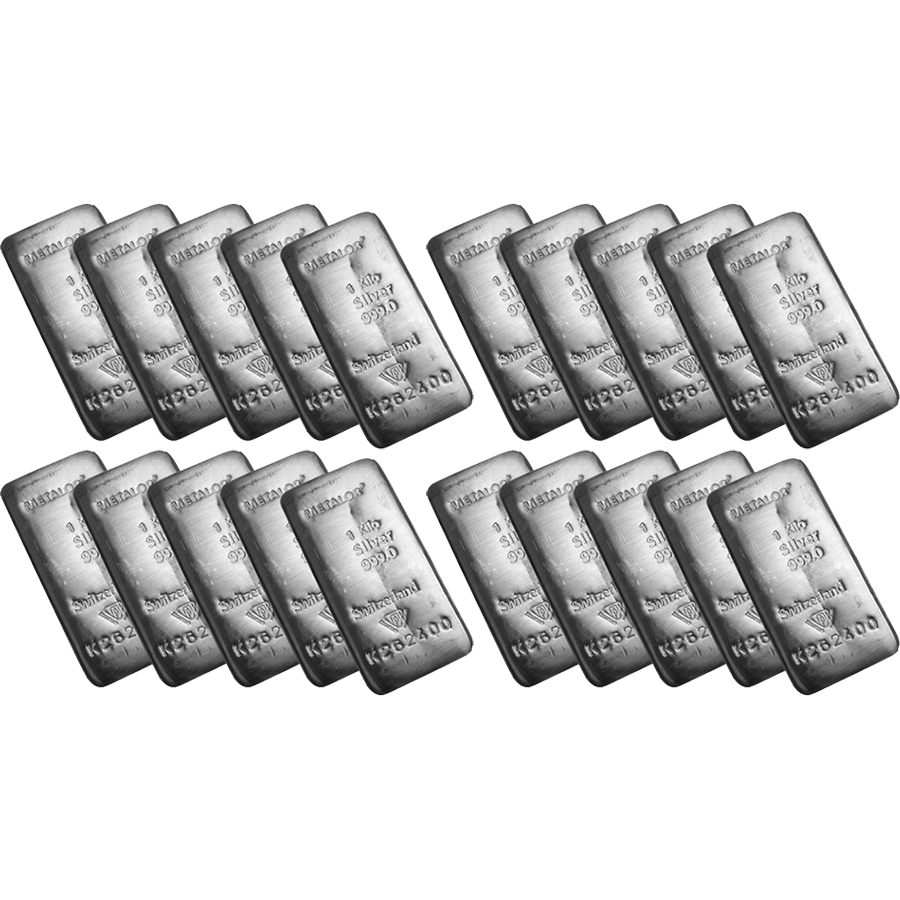 Metalor 1kg Silver 20 Bar Bundle