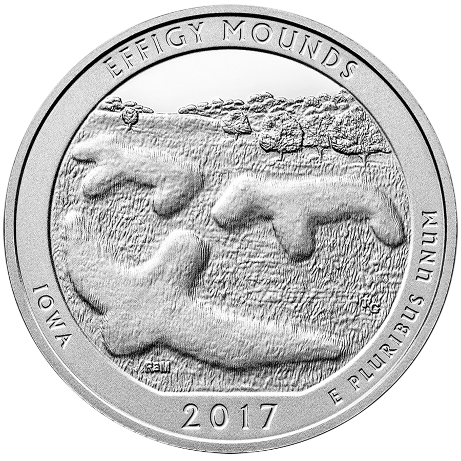 2017 ATB Effigy Mounds National Monument 5oz Silver Coin