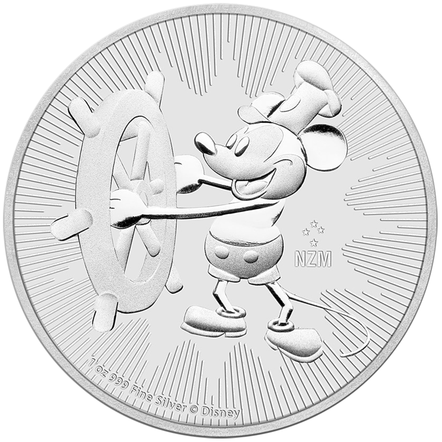 Disney Steamboat Willie 1oz Silver Bullion Coins Free Uk