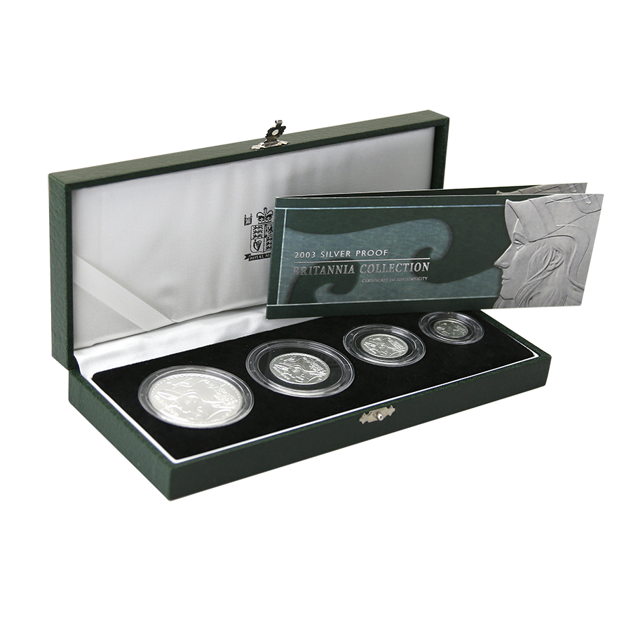 Pre-Owned 2003 UK Britannia Silver Proof 4 Coin Set - VAT Free