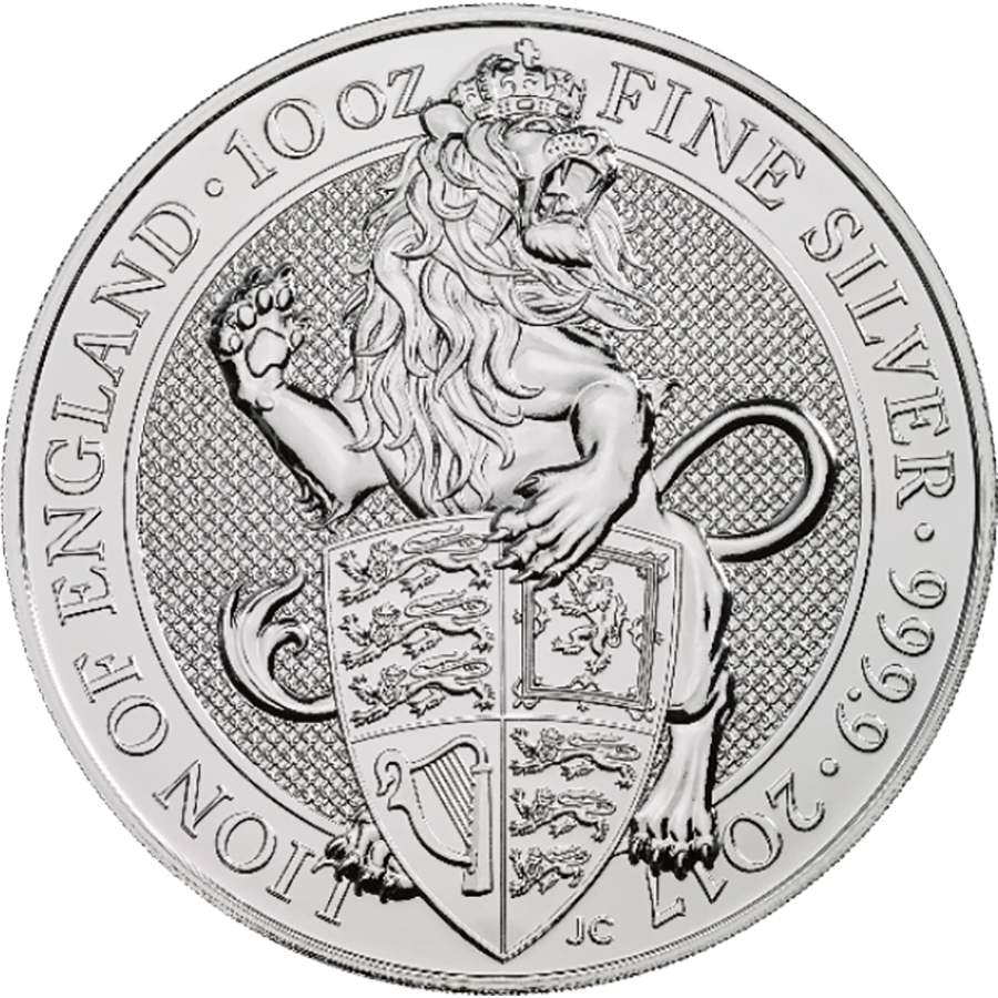 2017 UK Queen's Beasts The Lion 10oz Silver Coin (Image 1)