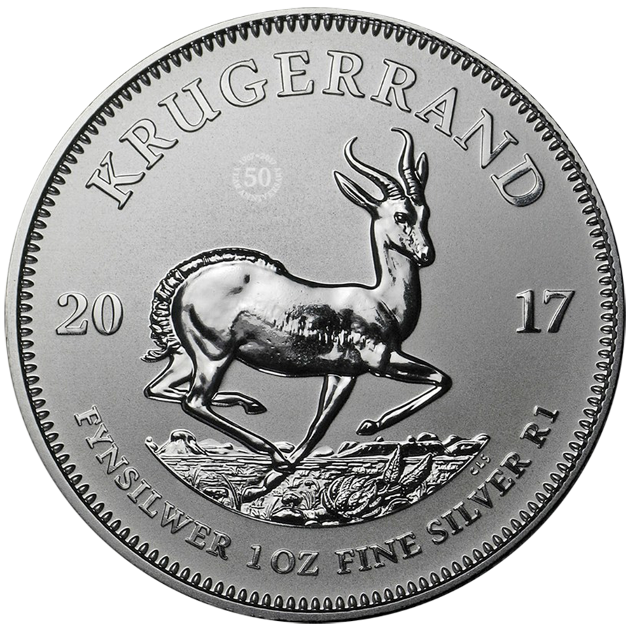 2017 South African Krugerrand Premium Uncirculated 1oz Silver Coin