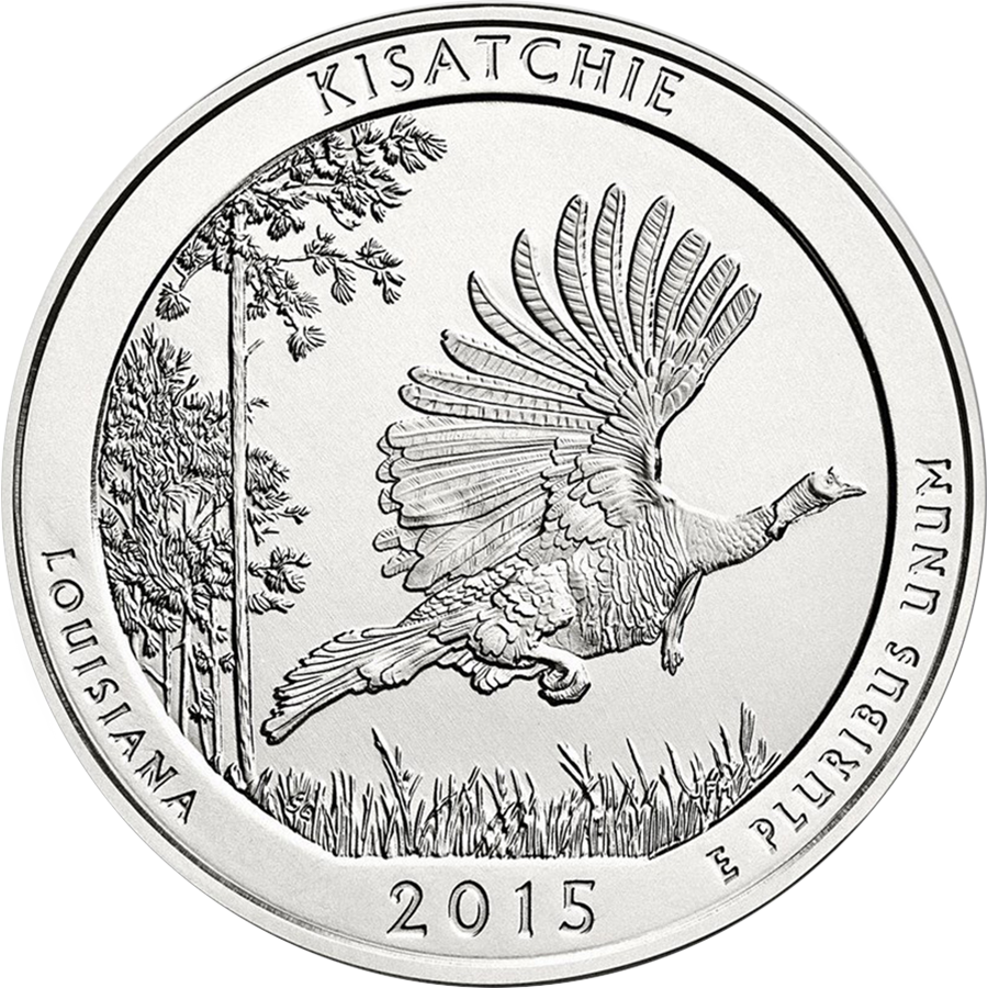 Pre-Owned 2015 ATB 'Kisatchie National Forest' 5oz Silver Coin - VAT Free