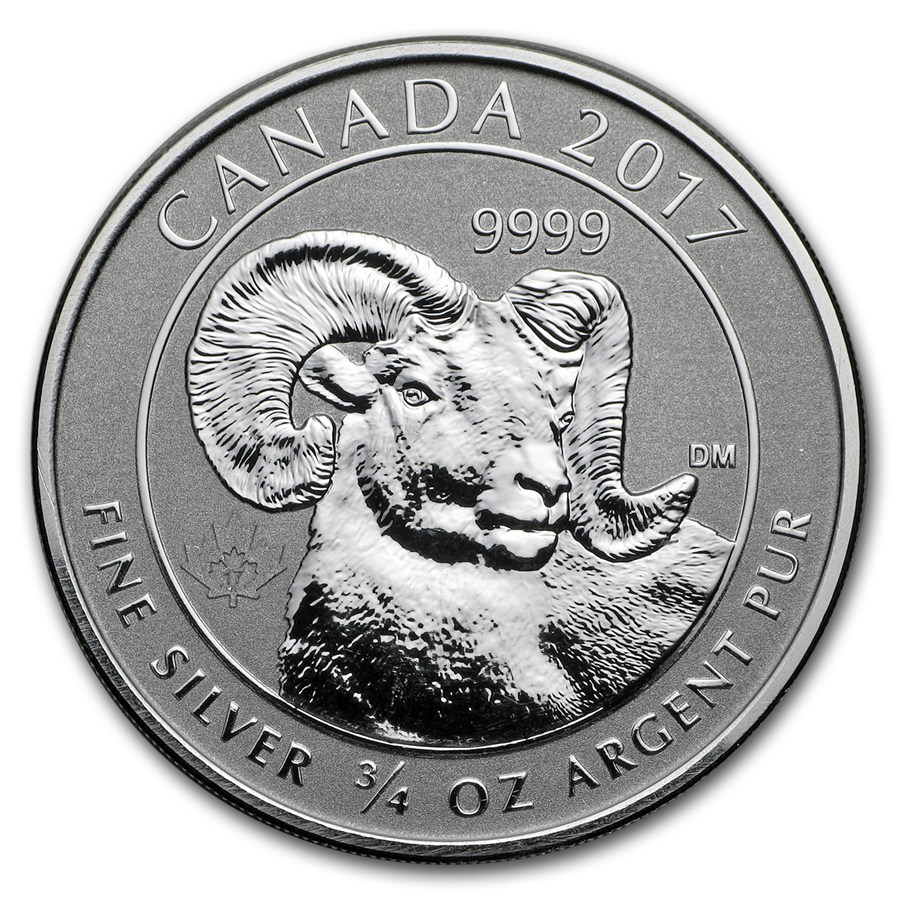 2017 Canadian Big Horn Sheep 3 4oz Silver Coin Atkinsons