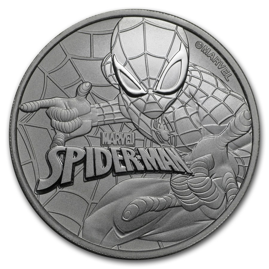 2017 Marvel Series Spider Man 1oz Silver Coin Atkinsons