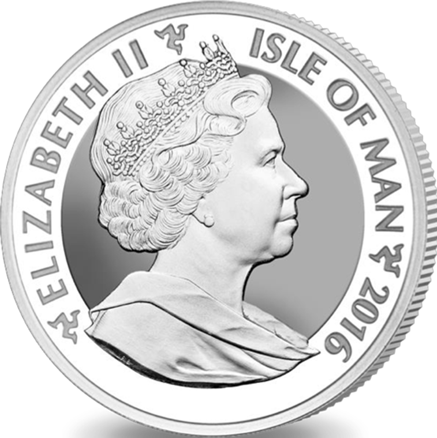 xx Pre-Owned 2016 Isle of Man Angel Reverse Proof 1oz Silver Coin - VAT Free (Image 2)