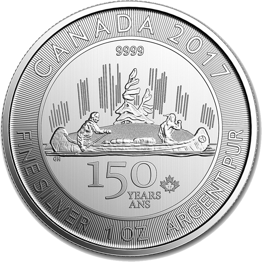 2017 Canadian 150th Anniversary Voyageur 1oz Silver Coin