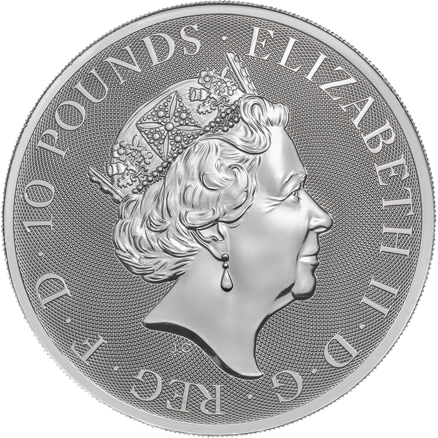 2018 UK Queen's Beasts The Griffin 10oz Silver Coin (Image 2)