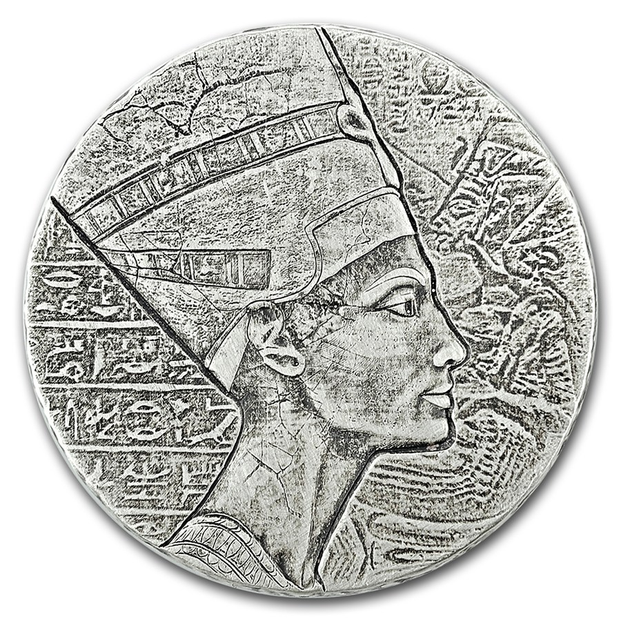 Egyptian Relic 5 Oz Republic Of Chad Queen Nefertiti