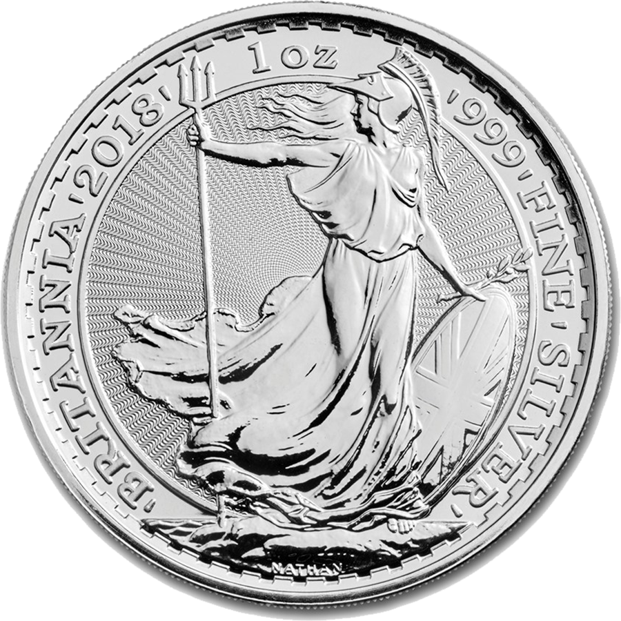 2018 UK Britannia 1oz Silver Coin (Image 1)