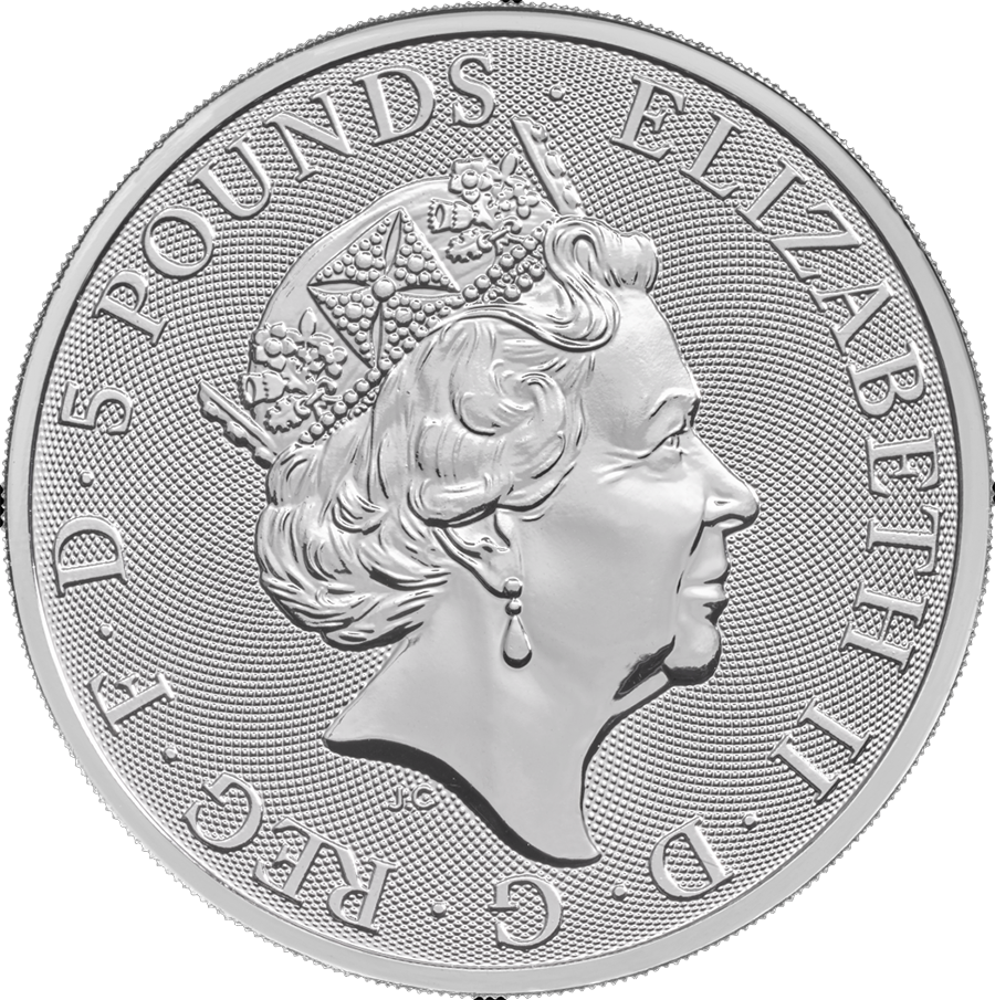 Pre-Owned 2018 UK Queen's Beasts The Unicorn 2oz Silver Coin - VAT Free (Image 2)