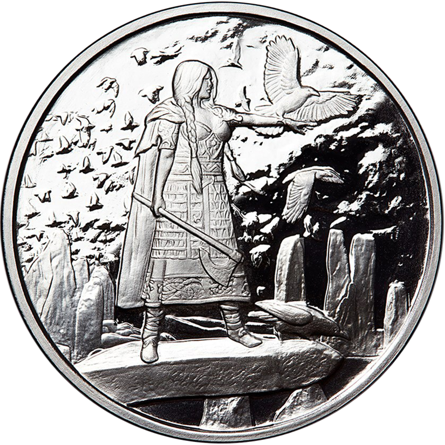 Celtic Lore: Morrigan 5oz Silver Proof Round