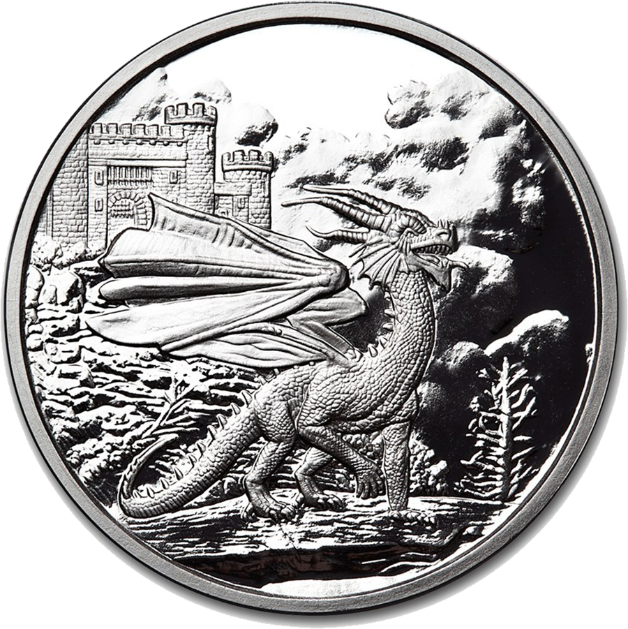Celtic Lore: Welsh Red Dragon 1oz Silver Proof Round