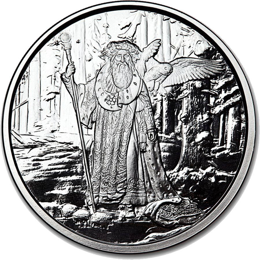 Celtic Lore: Merlin 1oz Silver Proof Round