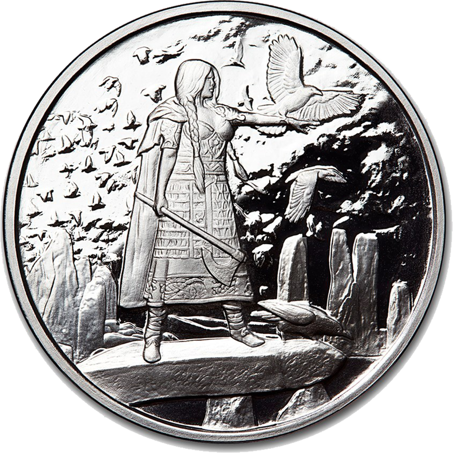 Celtic Lore: Morrigan 1oz Silver Proof Round