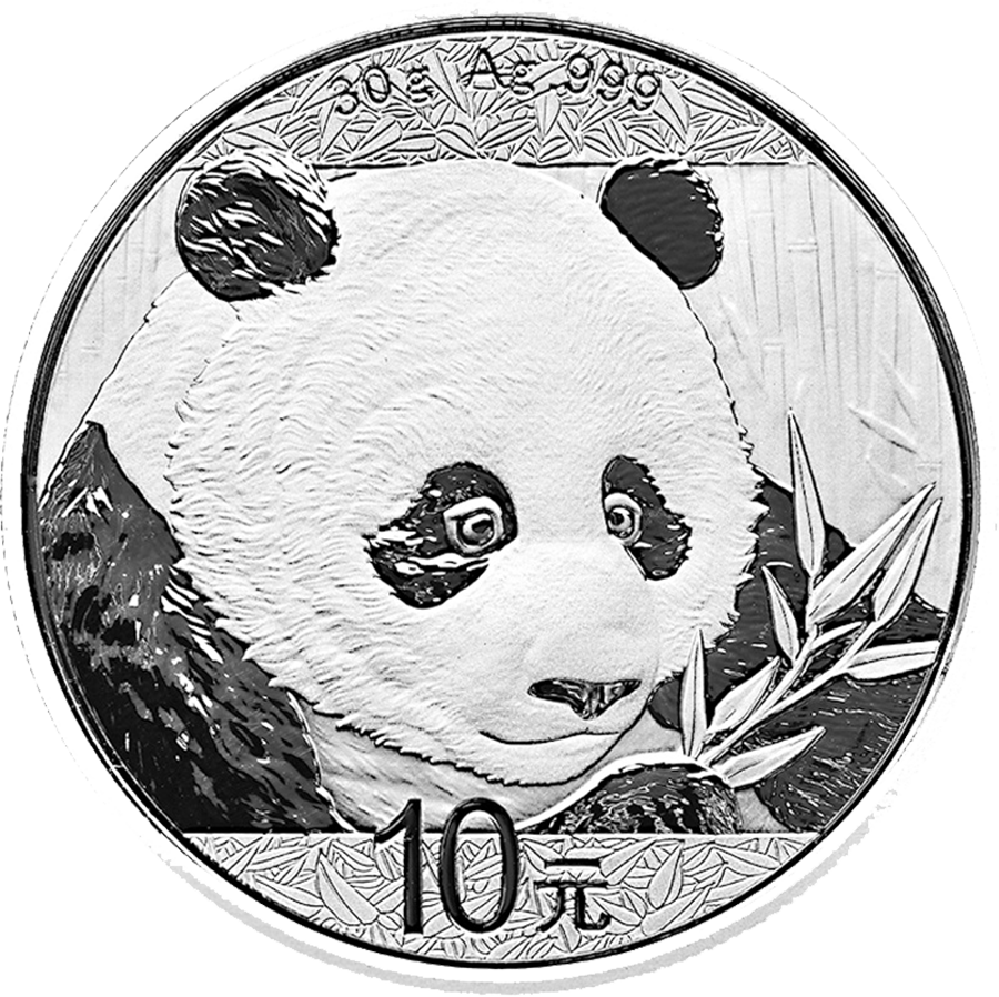 2018 Chinese Panda 30g Silver Coin