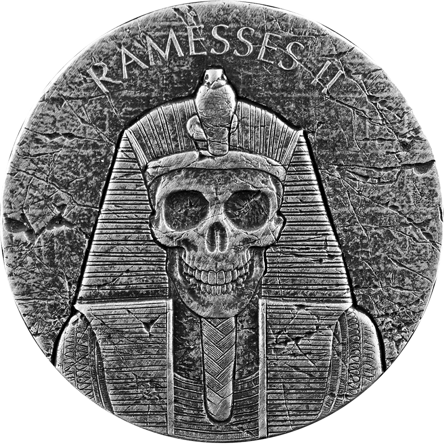 2017 Republic of Chad Ramesses II Afterlife 2oz Silver Coin