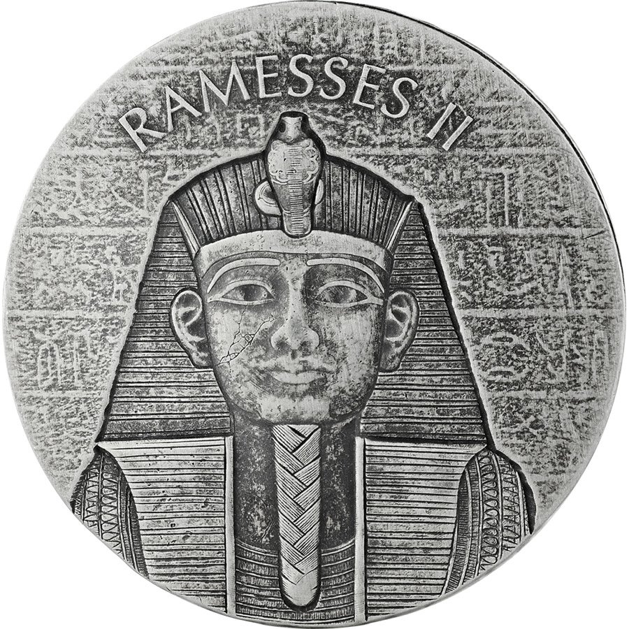 2017 Republic of Chad Ramesses II 2oz Silver Coin (Image 1)