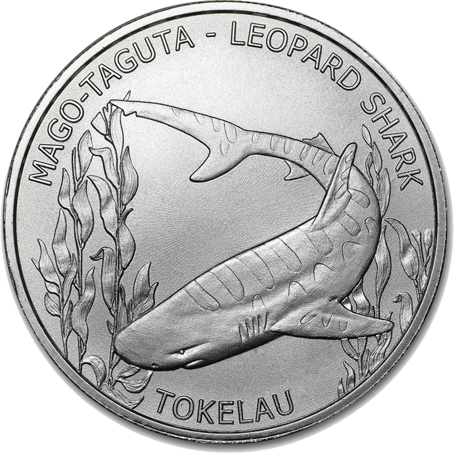 2018 Tokelau Leopard Shark 1oz Silver Coin