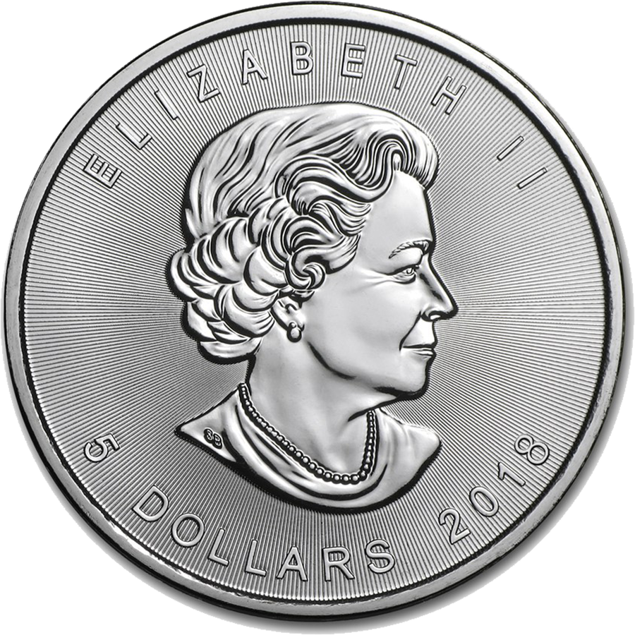 2018 Canadian Maple 1oz Silver Coin (Image 2)