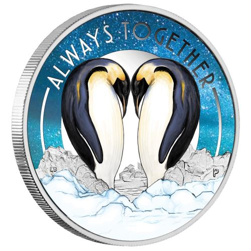 2018 Australian Always Together Penguins 1/2oz Proof Silver Coin