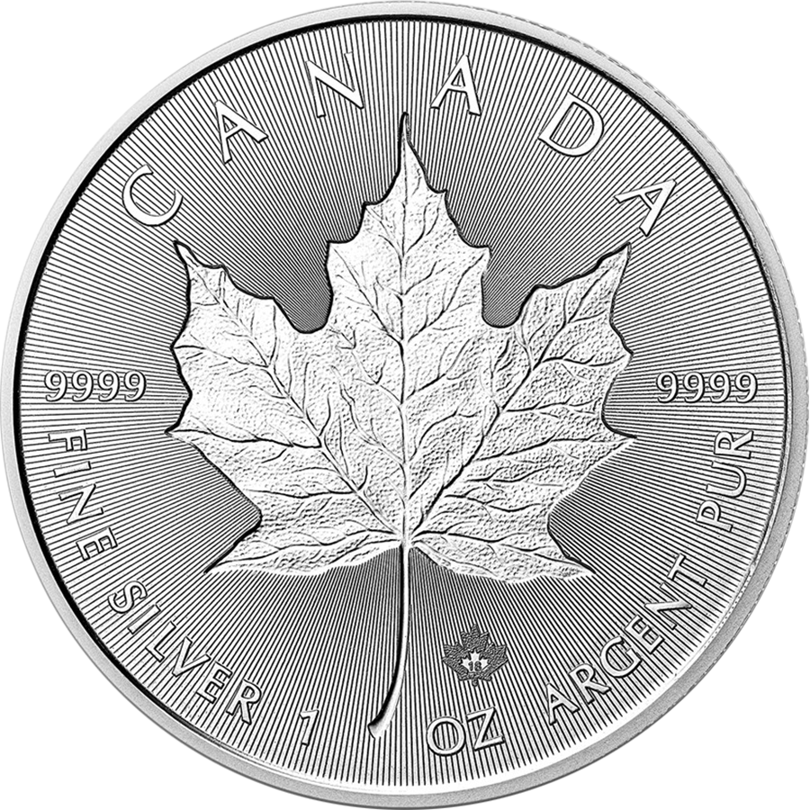 2018 Canadian Incuse Maple Leaf 1oz Silver Coin (Image 1)