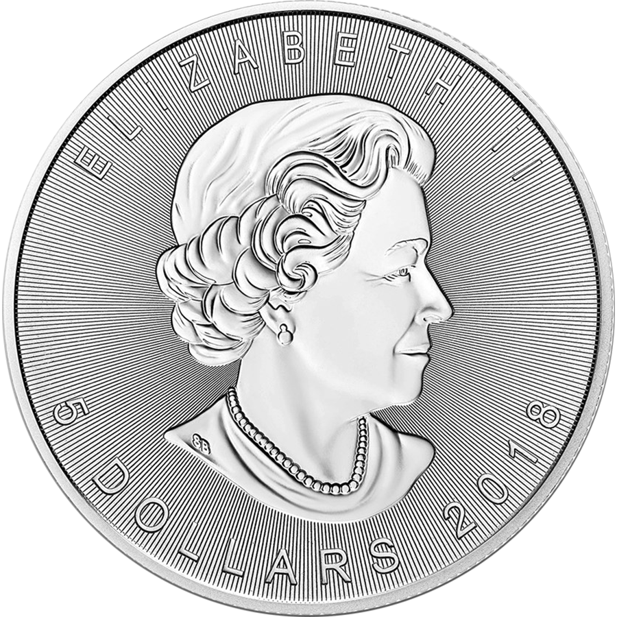 2018 Canadian Incuse Maple Leaf 1oz Silver Coin (Image 2)