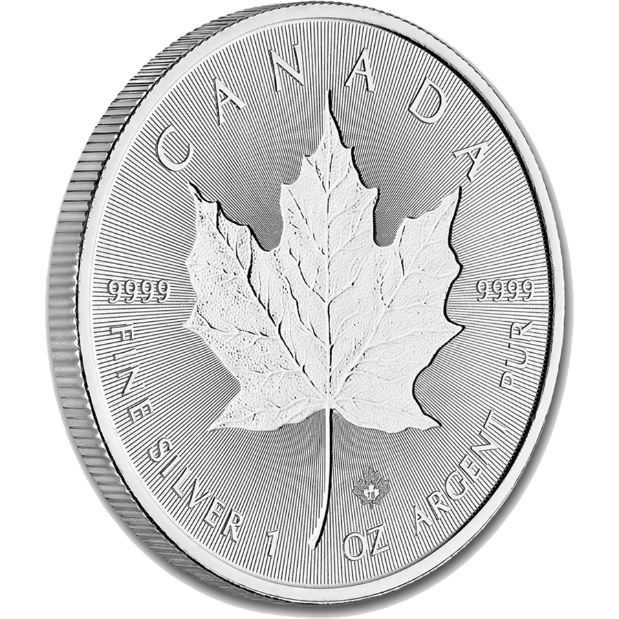 2018 Canadian Incuse Maple Leaf 1oz Silver Coin (Image 3)