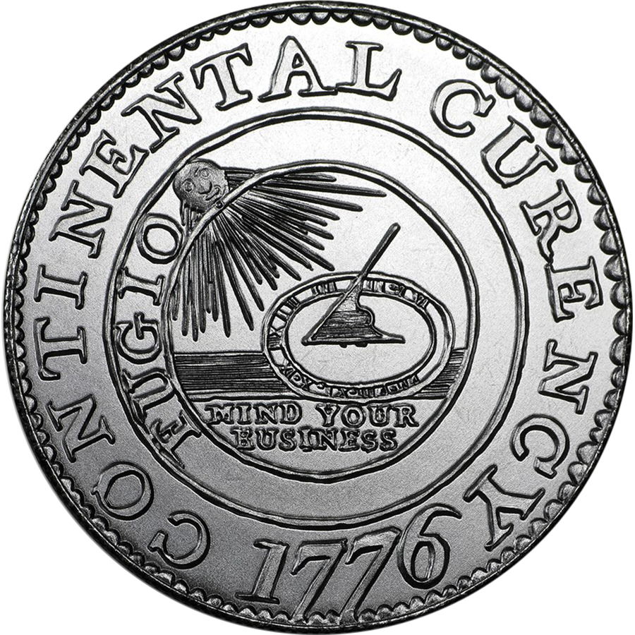 Colonial Tribute Series: Continental Dollar 2oz Silver Round