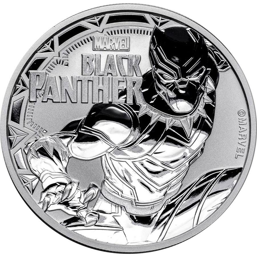 2018 Tuvalu Marvel Series - Black Panther 1oz Silver Coin