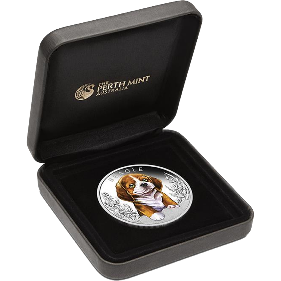 2018 Australian Puppies Series: The Beagle 1/2oz Silver Proof Coin (Image 3)