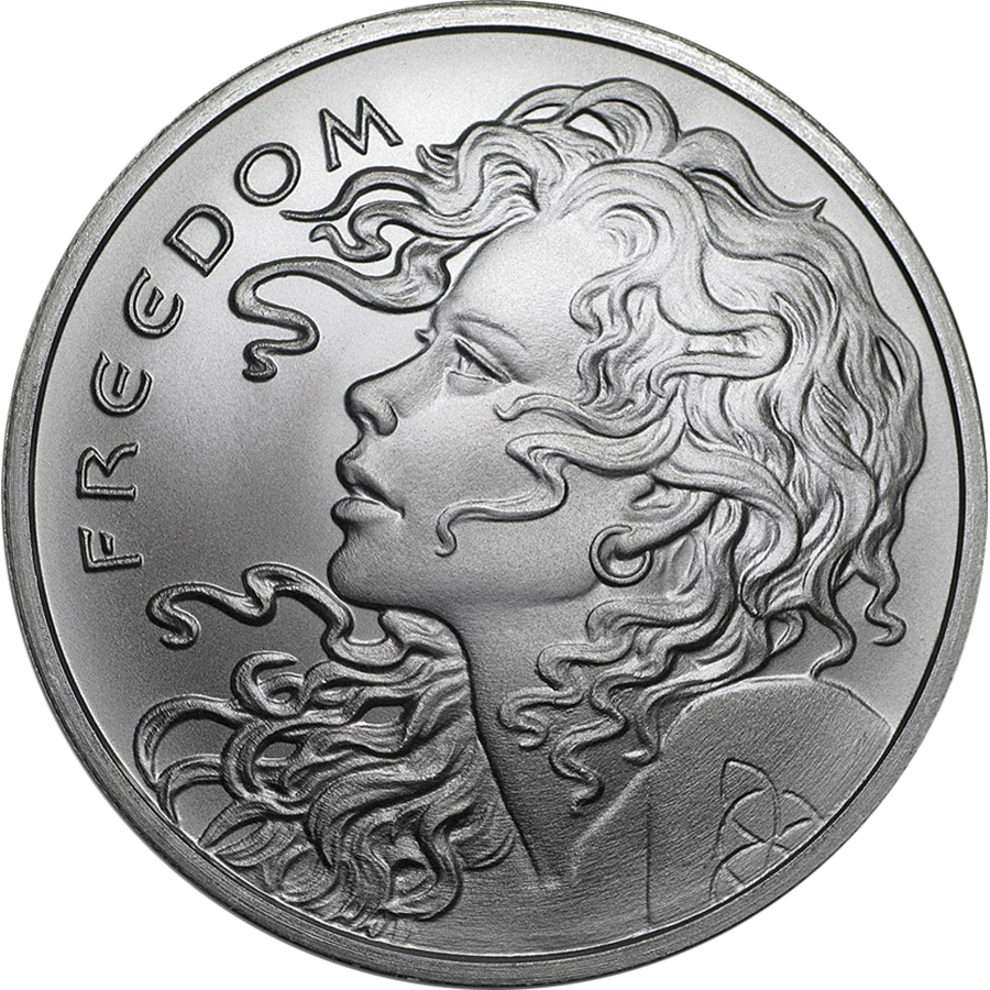 2018 USA Freedom Girl 1oz Silver Shield Round