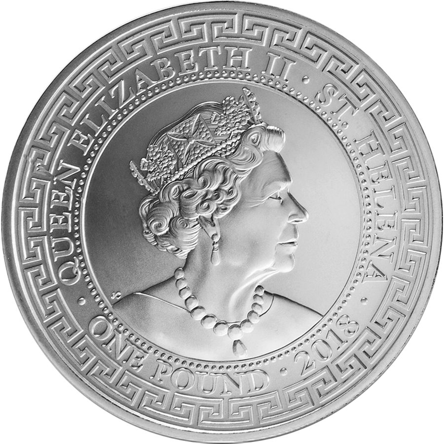 2018 St. Helena British Trade Dollar Restrike 1oz Silver Coin (Image 2)