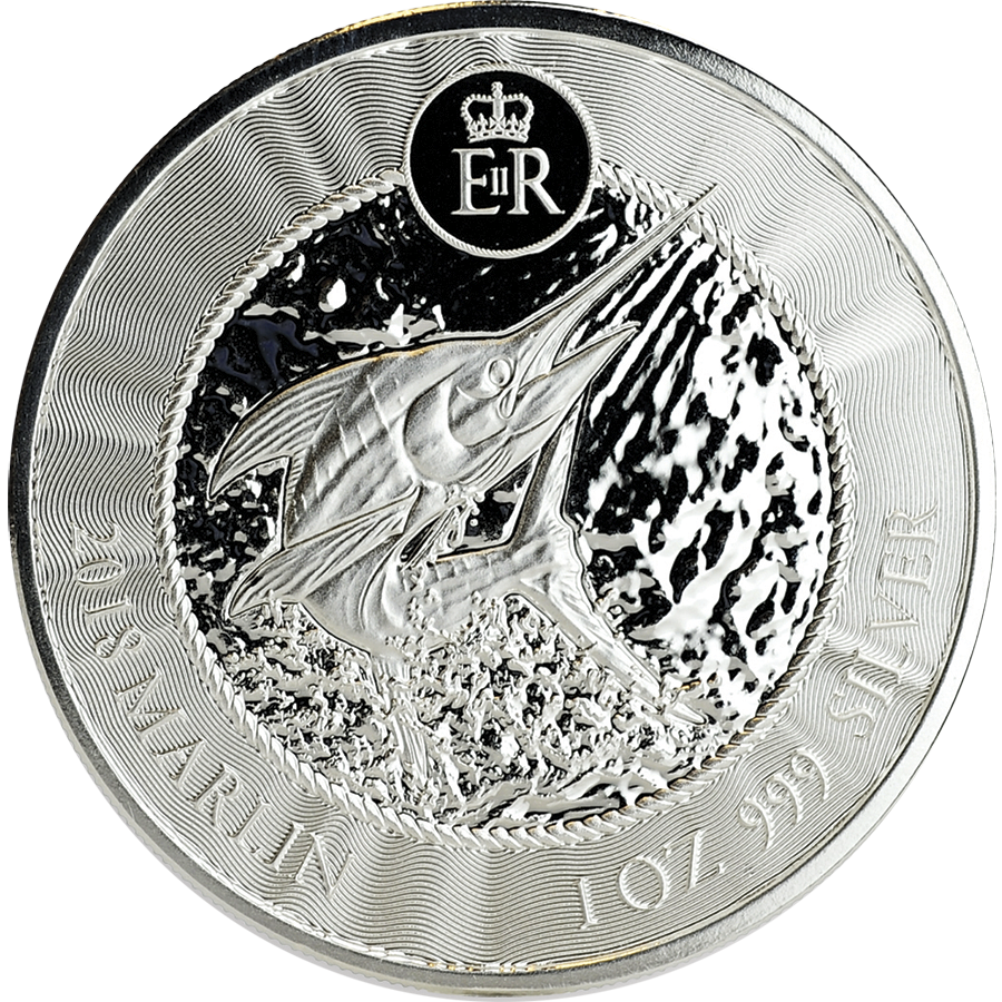 2018 Cayman Islands Marlin 1oz Silver Coin