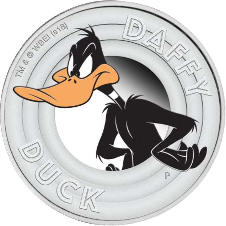 2018 Australian Looney Tunes: Daffy Duck 1/2oz Silver Proof Coin