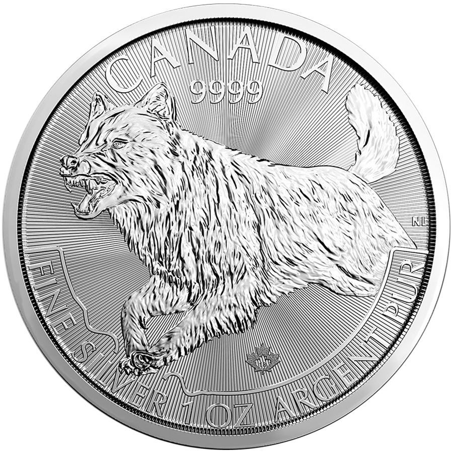 2018 Canadian Wolf 1oz Silver Coin