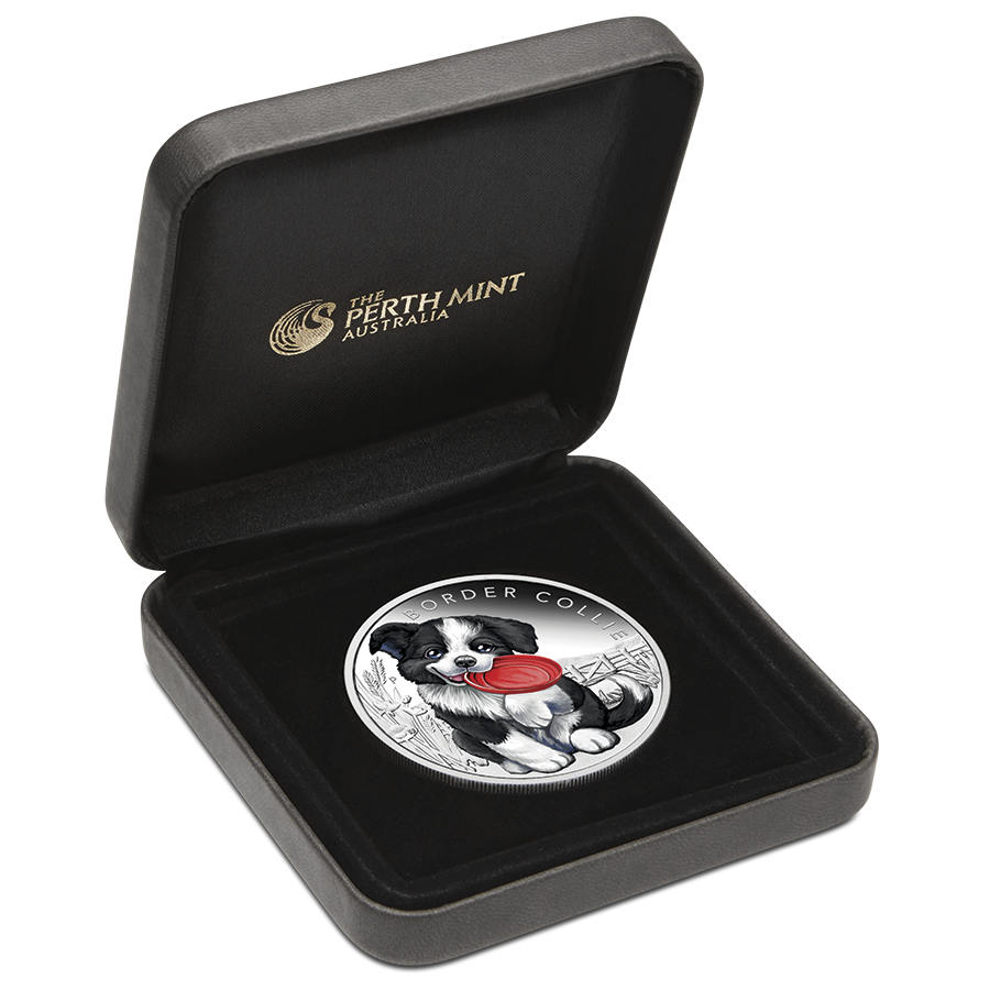 2018 Australian Puppies Series: The Border Collie 1/2oz Silver Proof Coin (Image 3)
