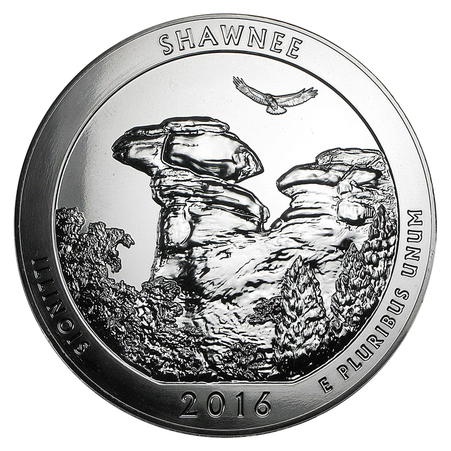 Pre-Owned 2016 ATB Shawnee National Forest 5oz Silver Coin - VAT Free