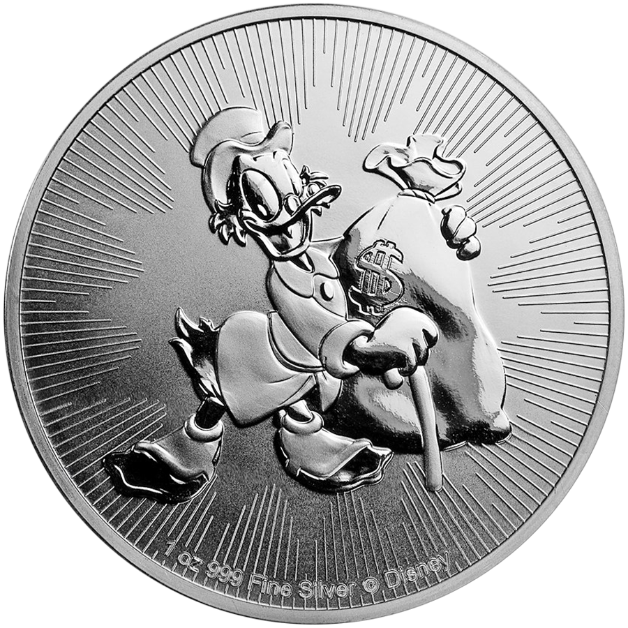 2018 Niue Disney Scrooge McDuck 1oz Silver Coin