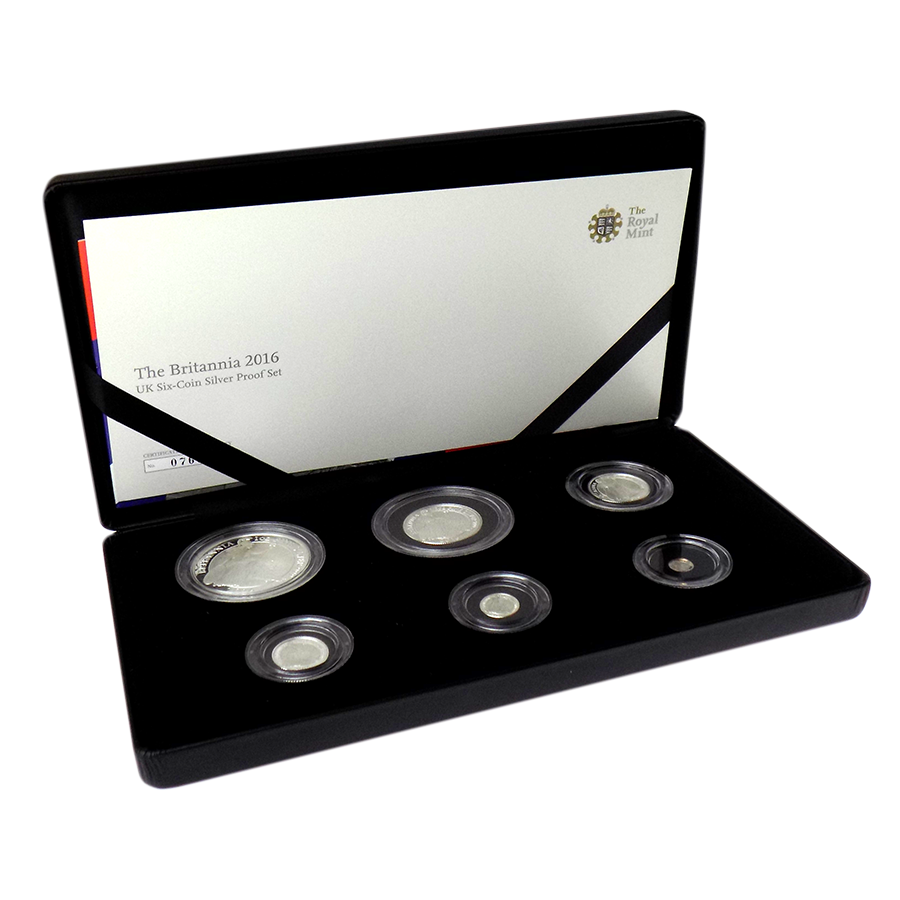 Pre-Owned 2016 UK Britannia Six Coin Silver Proof Coin Collection - VAT Free
