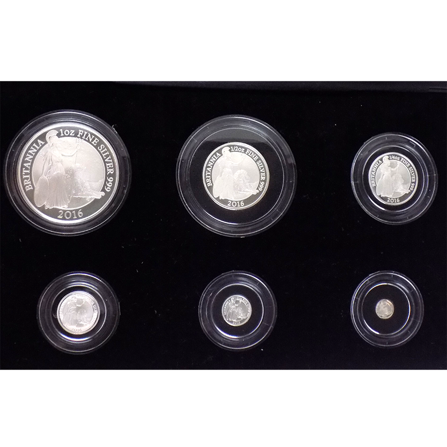 Pre-Owned 2016 UK Britannia Six Coin Silver Proof Coin Collection - VAT Free (Image 2)