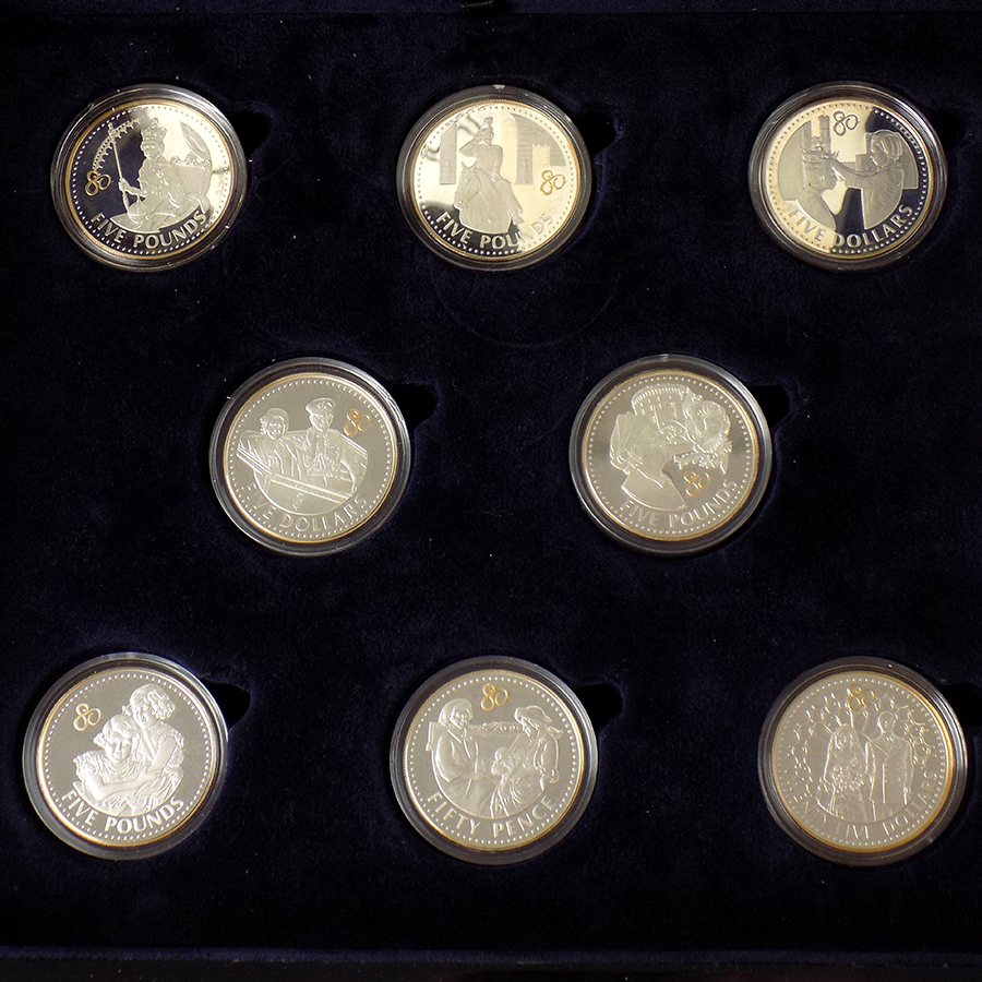 Pre-Owned 2006 UK Queen Elizabeth II 80th Birthday Crown Silver Proof 17-Coin Collection - VAT Free (Image 3)