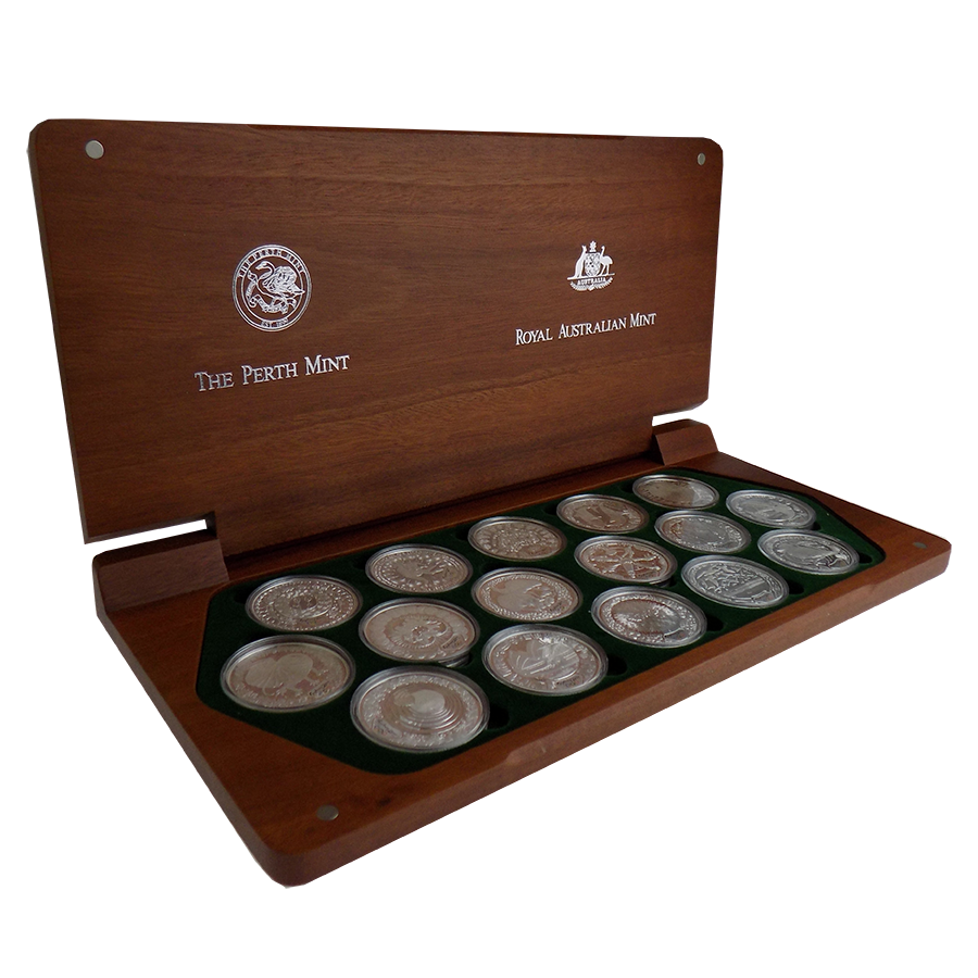 Pre-Owned 2000 Australia The Perth Mint Sydney Olympic Silver 16-Coin Collection - VAT Free