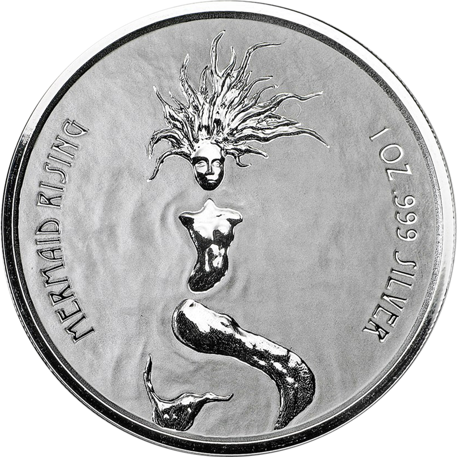 2018 Fiji Mermaid Rising 1oz Silver Coin