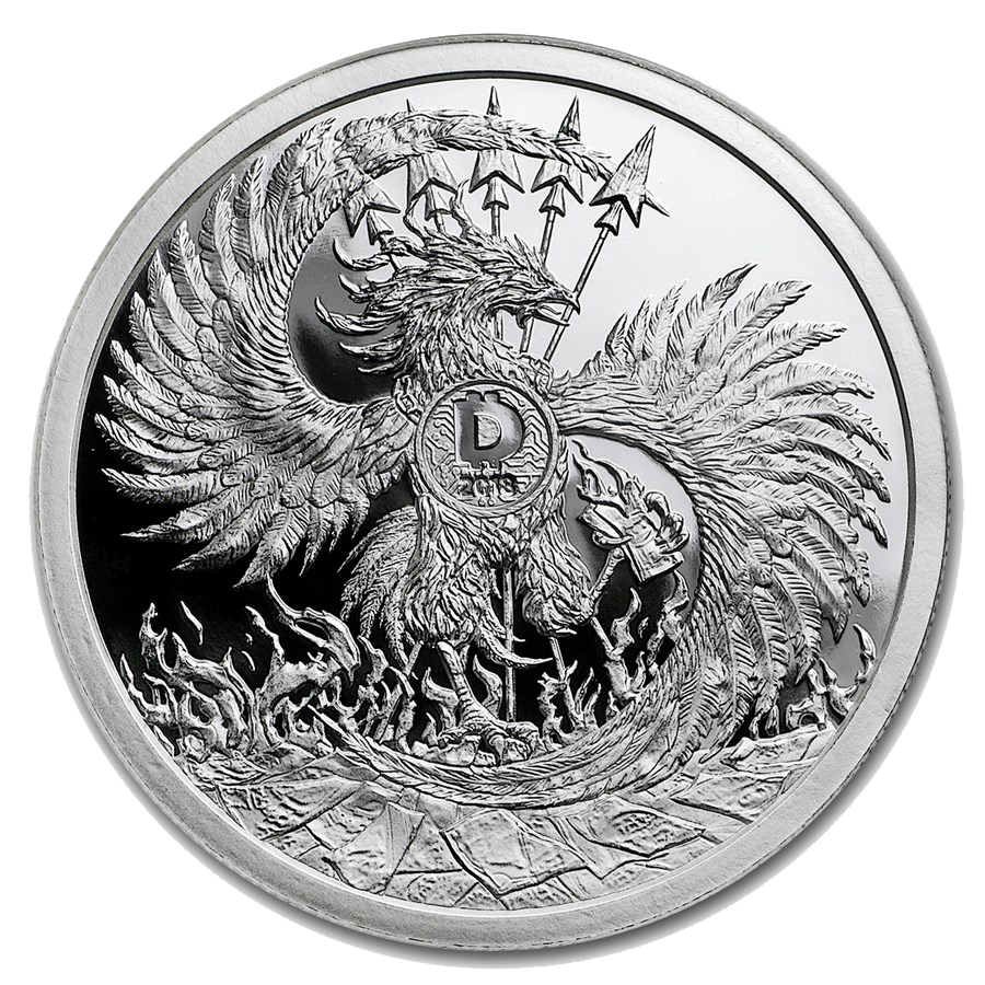 2018 MiniMintage Mark of the Beast 2oz Silver Shield Proof Round