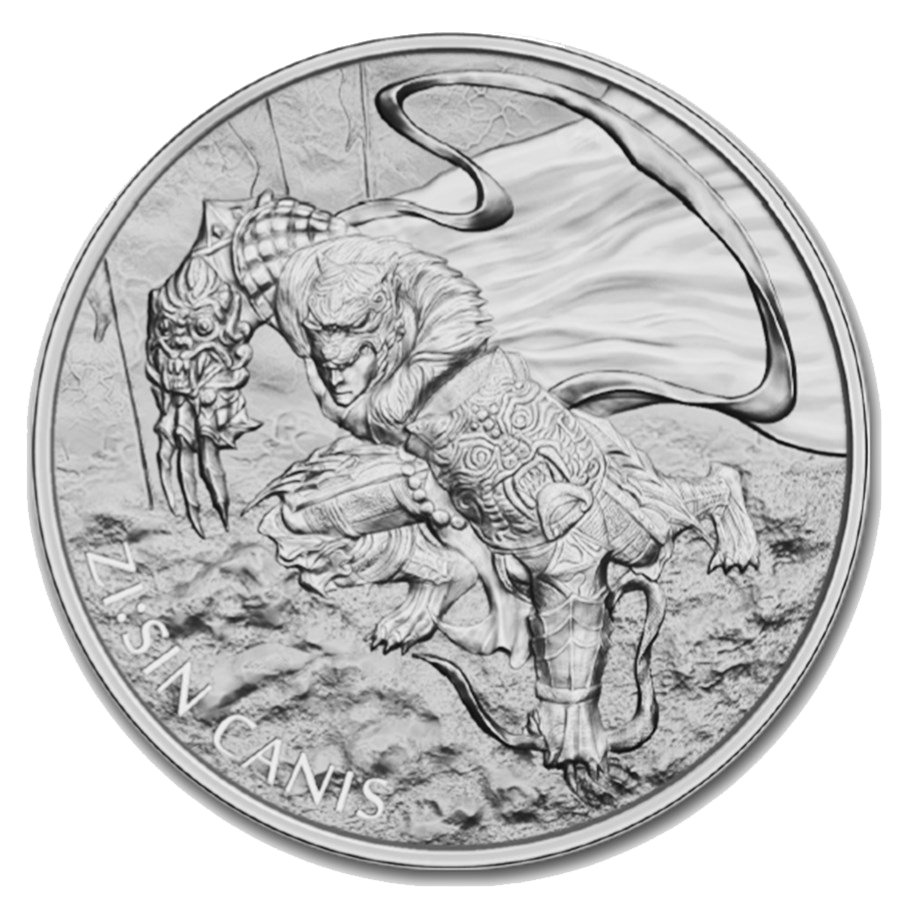 2018 South Korea ZI:SIN Canis 1oz Silver Round